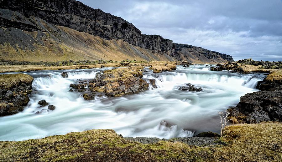 Iceland Waterfall Photograph by The World Is Beautiful
