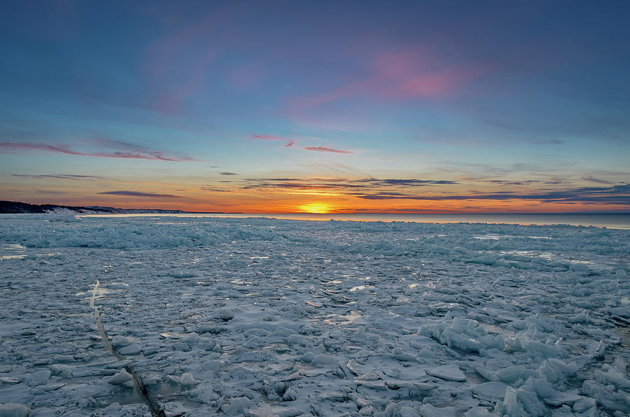 Icy Sunset by Gary McCormick