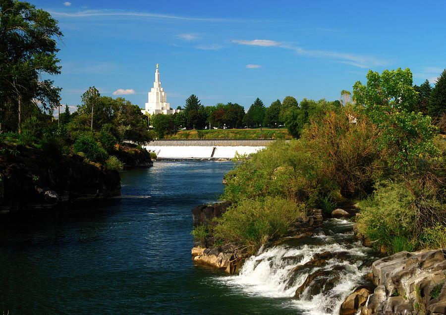 Idaho Falls Temple by Nathan Abbott