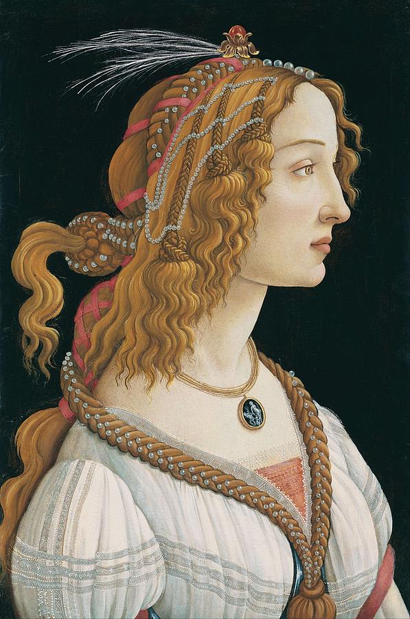 Sandro Botticelli Painting - Portrait Of A Young Woman, Portrait Of Simonetta Vespucci As Nymph by Sandro Botticelli