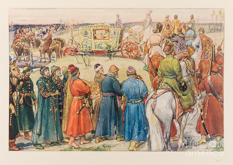Illustration For The Grand Ducal Drawing by Heritage Images