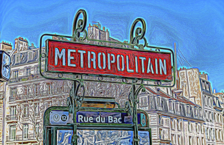 Illustration of Paris metro sign - Paris, France by Ulysse Pixel