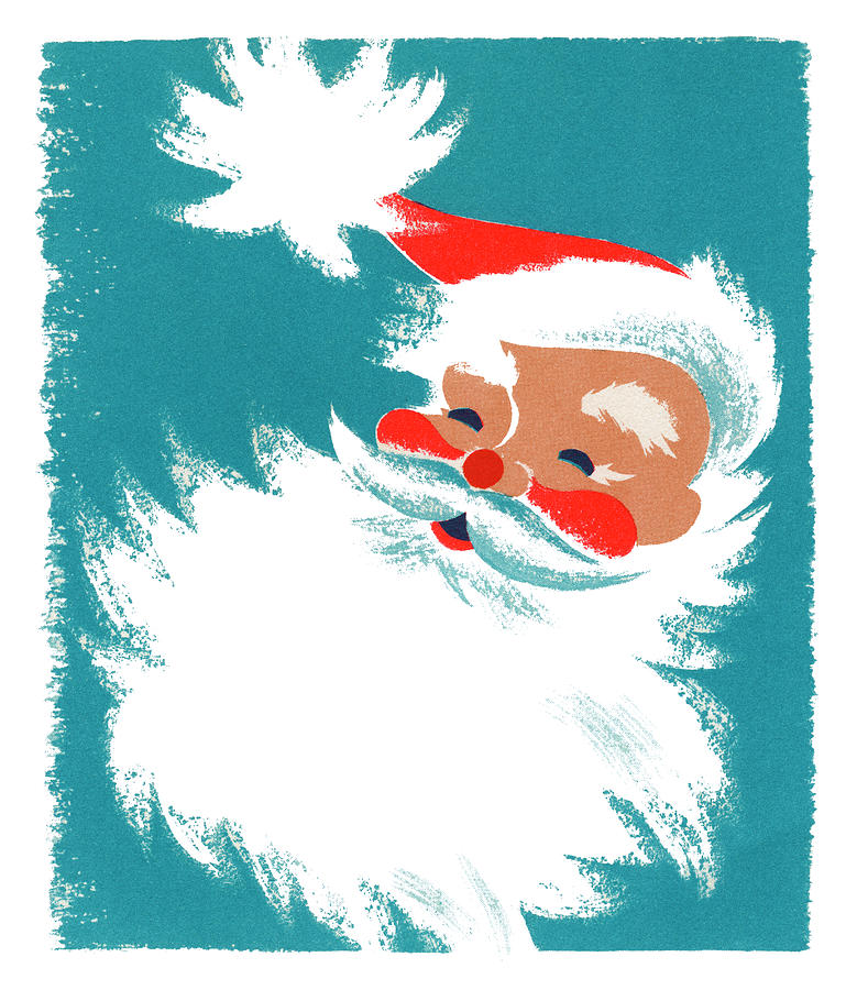 Illustration Of Santa Claus Photograph by Graphicaartis