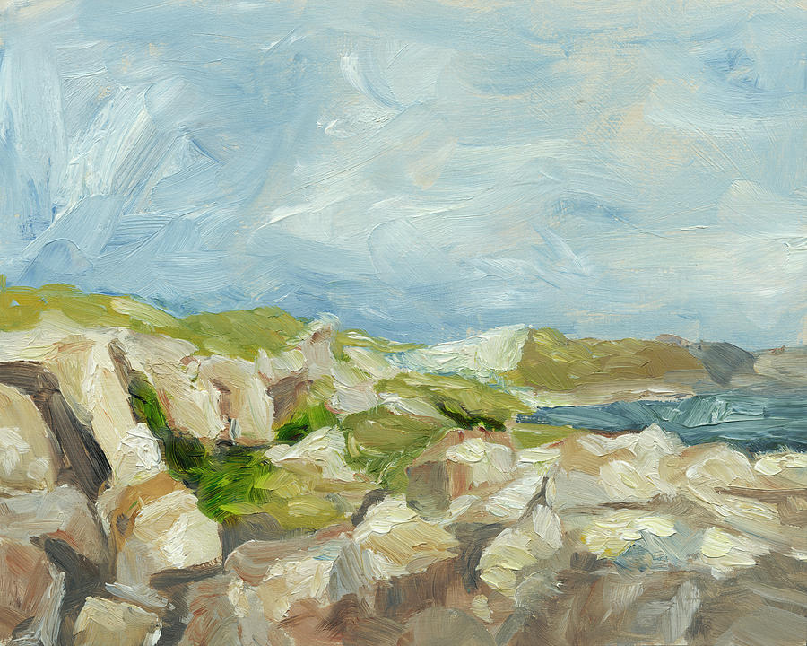 Impasto Mountainside Iv Painting By Ethan Harper