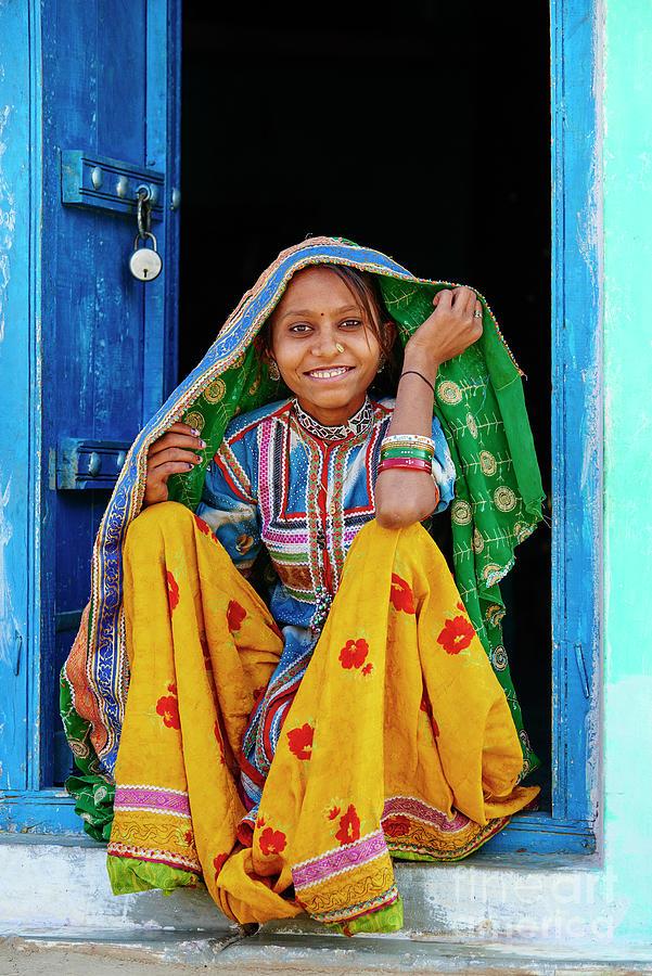 India, Gujarat, Kutch, Hodka Village Photograph by Tuul & Bruno Morandi