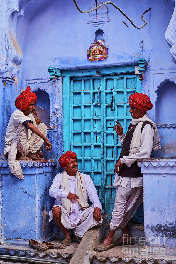 India, Rajasthan, Jodhpur, The Blue City Photograph by Tuul & Bruno Morandi