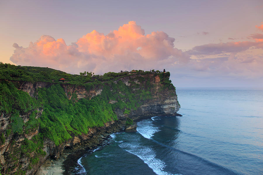 Indonesia, Bali, Cliff Temple Photograph by Michele Falzone