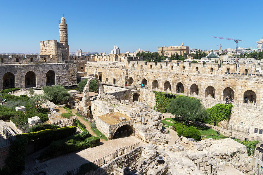 Inside the walls of the Jerusalem Citadel, or the Tower of David by William Kuta