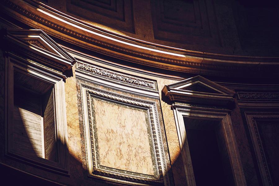 Interior of Rome Agrippa Pantheon, Italy by Eduardo Huelin