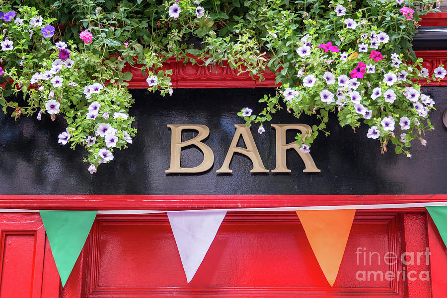 Irish Photograph - Irish Bar In Dublin by Delphimages Photo Creations