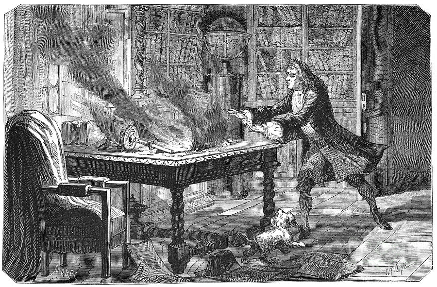 Isaac Newton, English Scientist Drawing by Print Collector