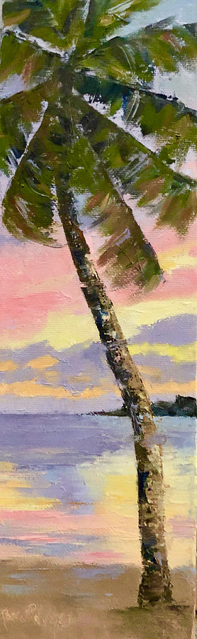 Sunset Painting - Island Sunset by Rosie Phillips