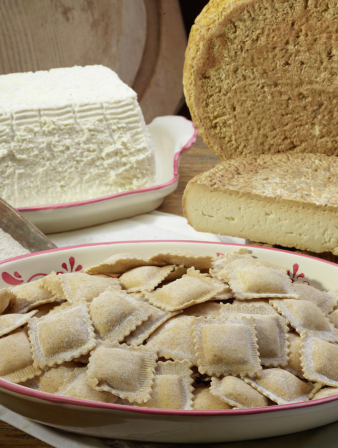 Italian Ravioli Pasta With Ricotta Photograph by Buena Vista Images