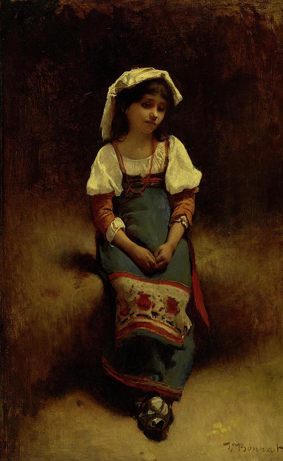 Leon Bonnat Painting - Italian Woman by Leon Bonnat