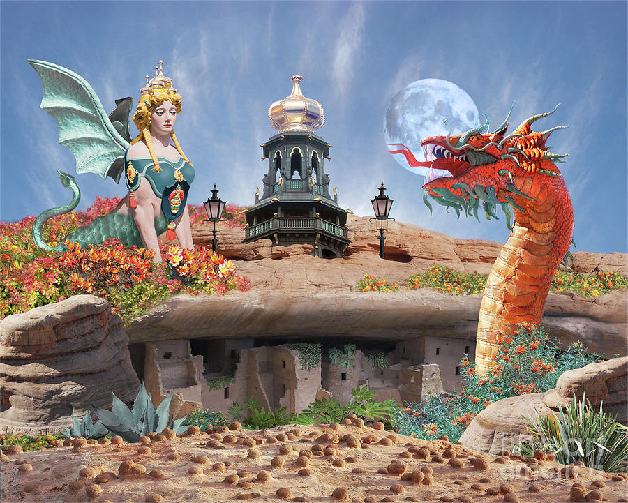 Dragon Digital Art - Its Complicated by Lucy Arnold