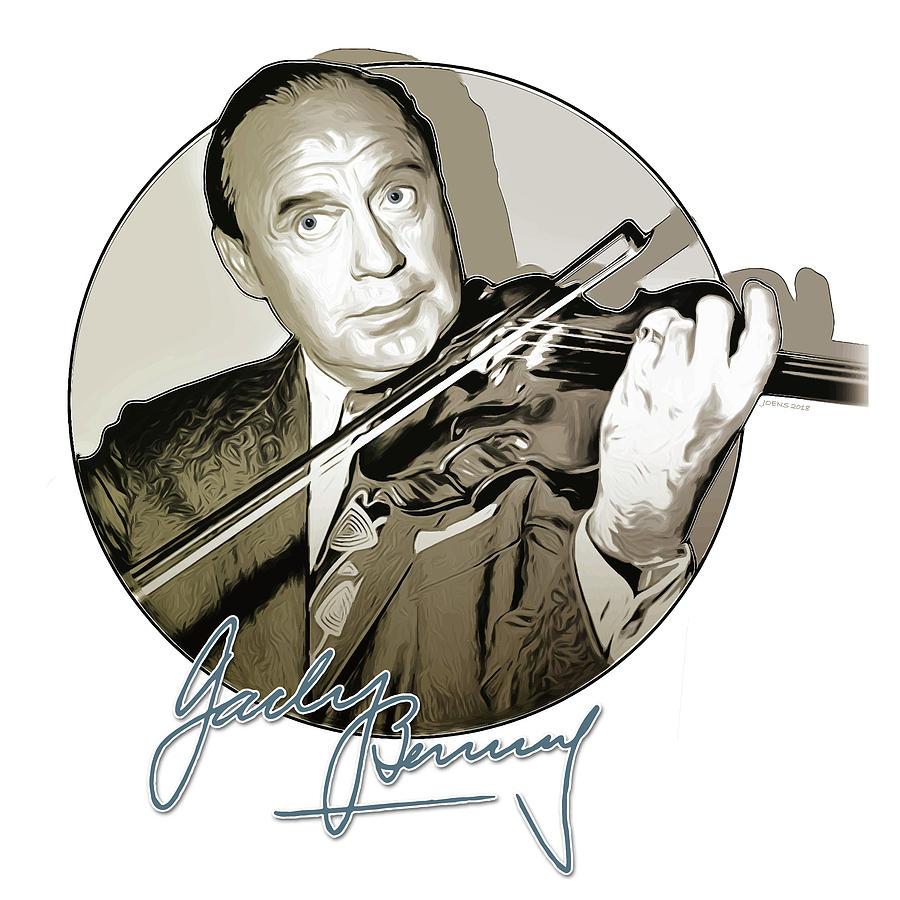 Jack Benny Digital Art - Jack Benny by Greg Joens