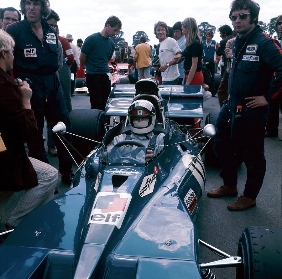 Jackie Stewart At The Wheel Of A Racing Photograph by Heritage Images