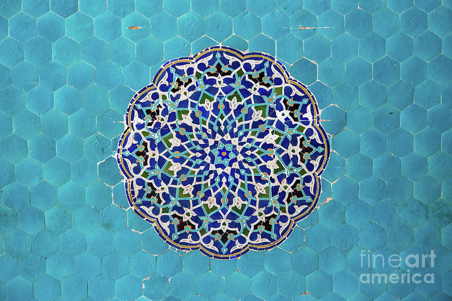 Jameh Mosque, Yazd, Iran Photograph by Sergio Formoso