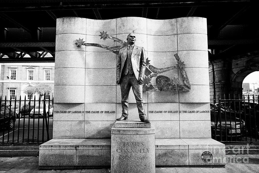 James Connolly Photograph - James Connolly Memorial Gardiner Street North Dock Dublin Republic Of Ireland Europe by Joe Fox