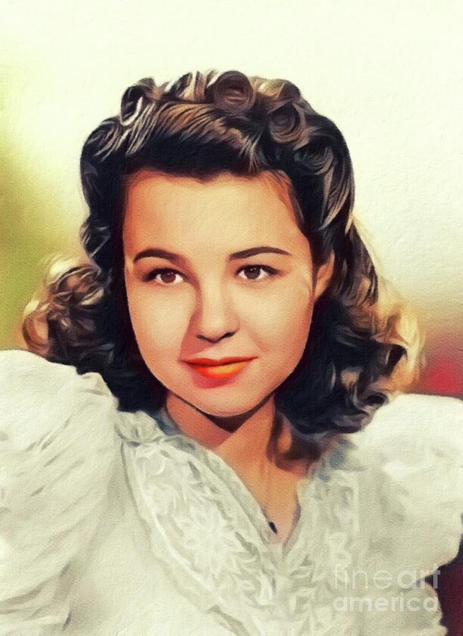 Jane Withers, Vintage Actress Painting