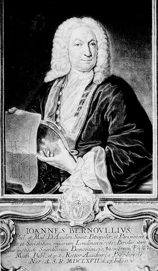 Jean Bernoulli, Swiss Mathematician Drawing by Print Collector