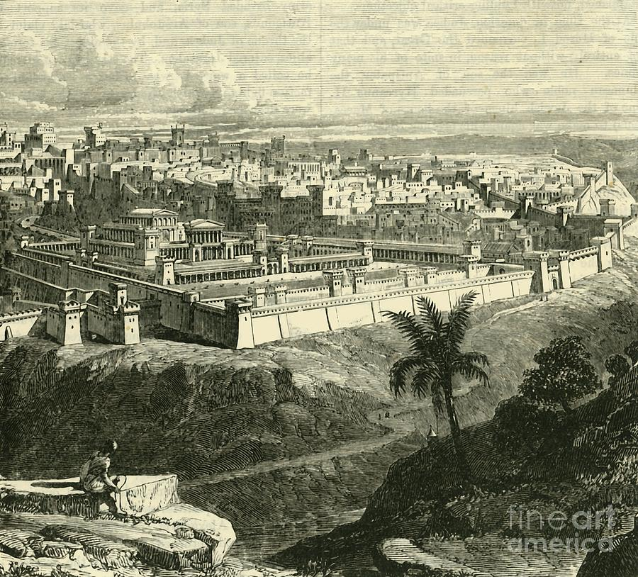 Jerusalem In The Time Of Jesus Christ Drawing by Print Collector