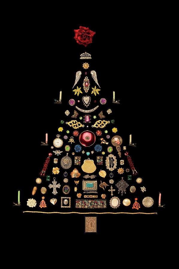 Jewelry Christmas Trees.Jewelry Art Christmas Tree