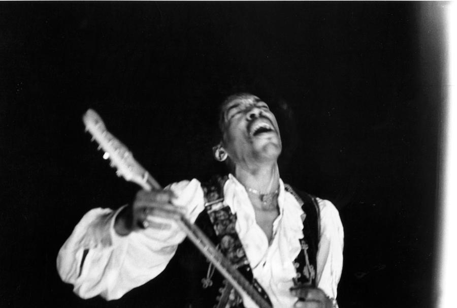 Jimi Hendrix Performs At Monterey Photograph by Michael Ochs Archives
