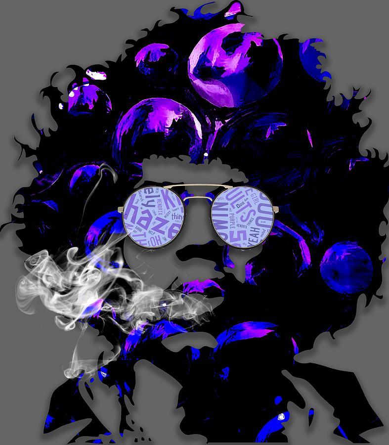 Jimi Hendrix Mixed Media - Jimi Hendrix Purple Haze by Marvin Blaine