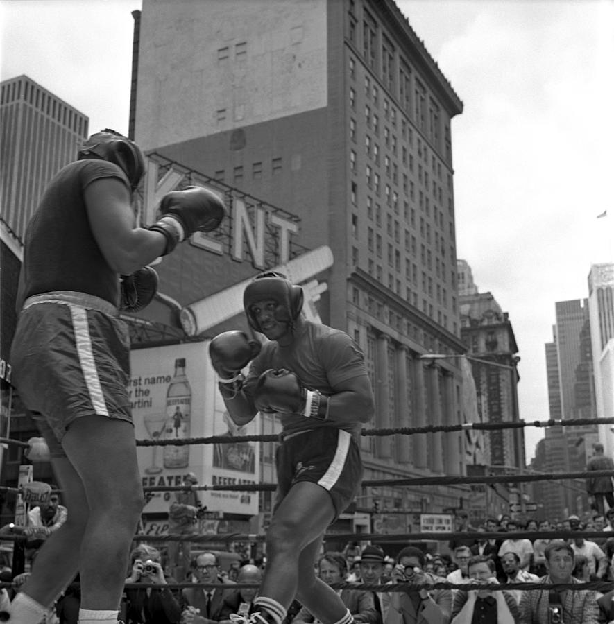 Joe Frazier Sparring Session Photograph by Donaldson Collection