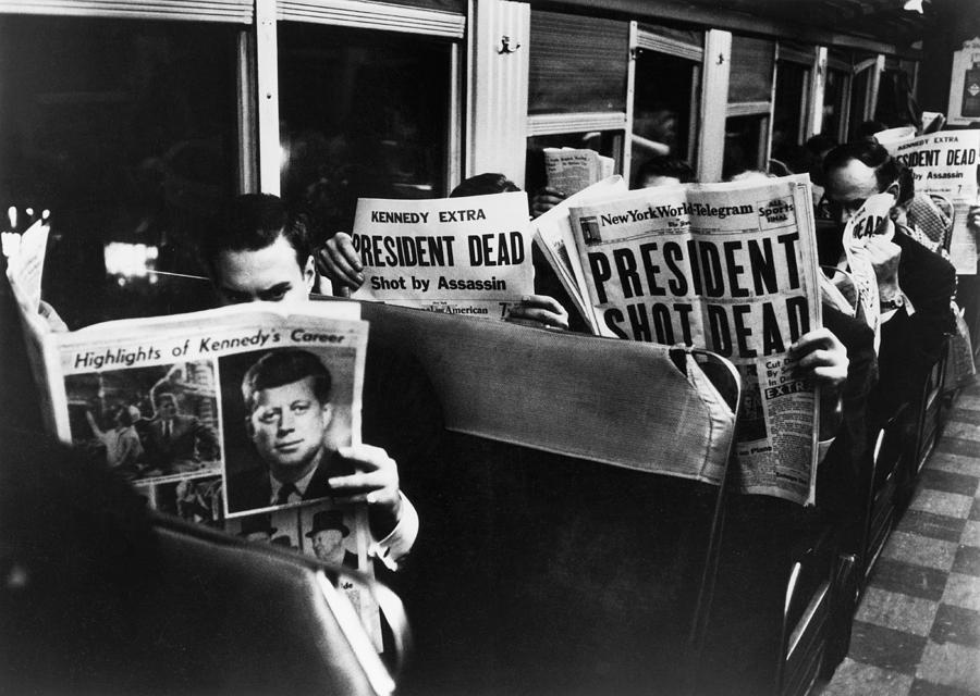 John F. Kennedy Death Photograph by Carl Mydans