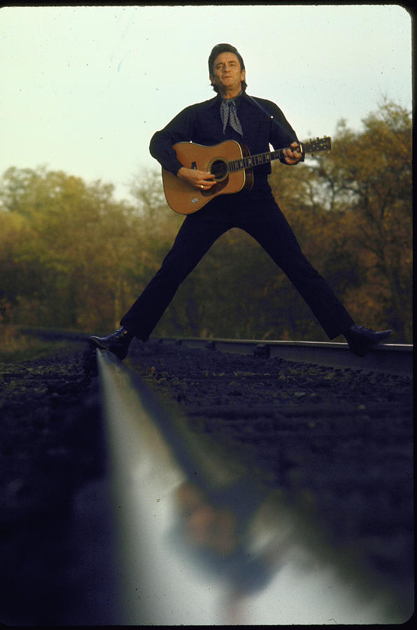 Johnny Cash 1 Photograph by Michael Rougier