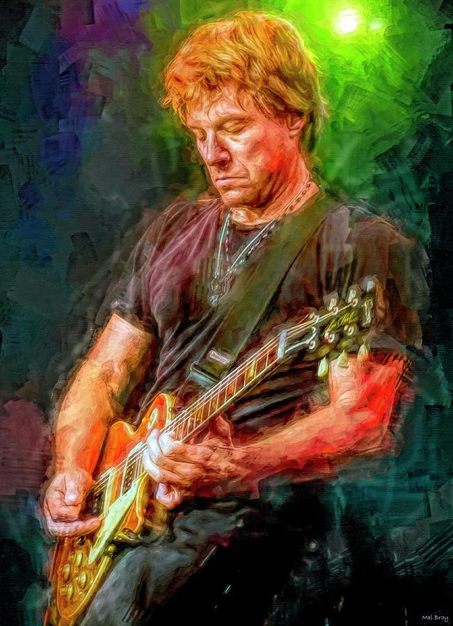 Jon Bon Jovi Mixed Media - Jon Bon Jovi by Mal Bray