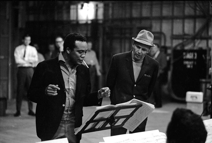 Jones & Sinatra In Studio Photograph by John Dominis