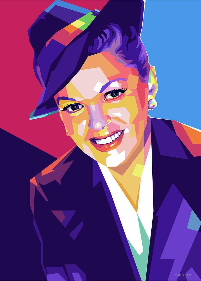 Judy Digital Art - Judy Garland by Stars on Art
