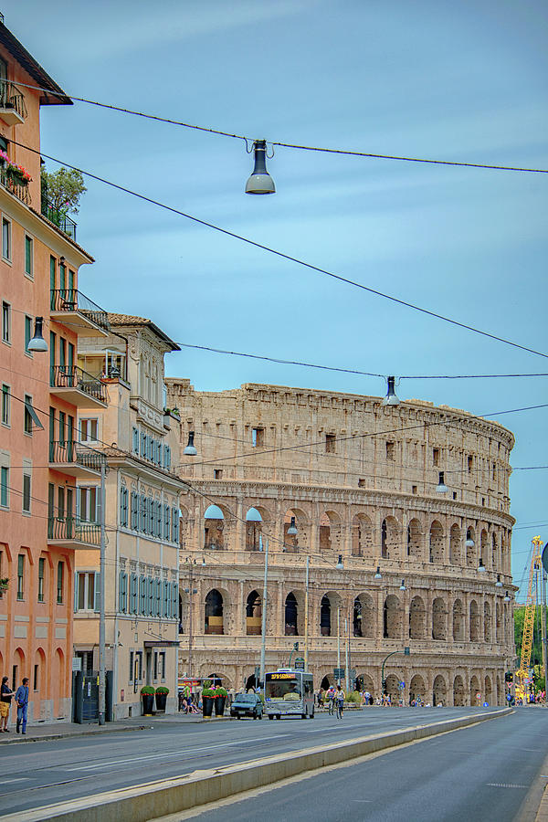 Colosseum Photograph - Just Down The Block    by Joseph Yarbrough