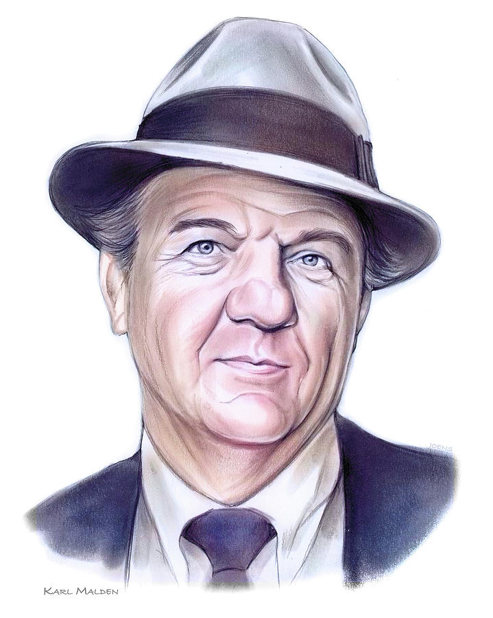 Karl Malden Mixed Media