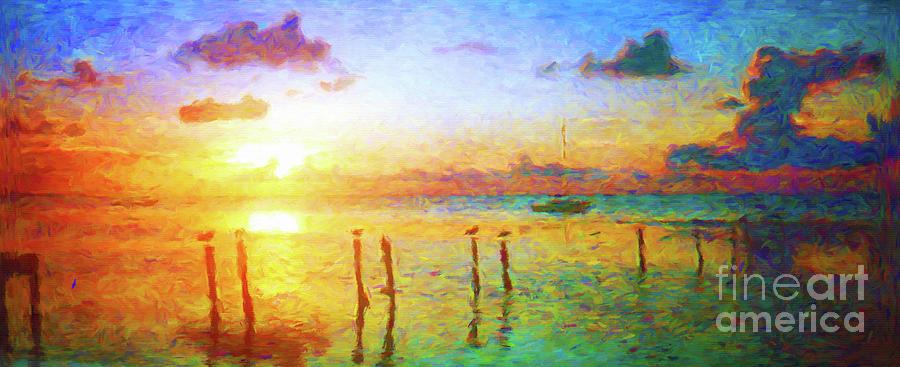 Key Largo Sunset by Jerome Stumphauzer