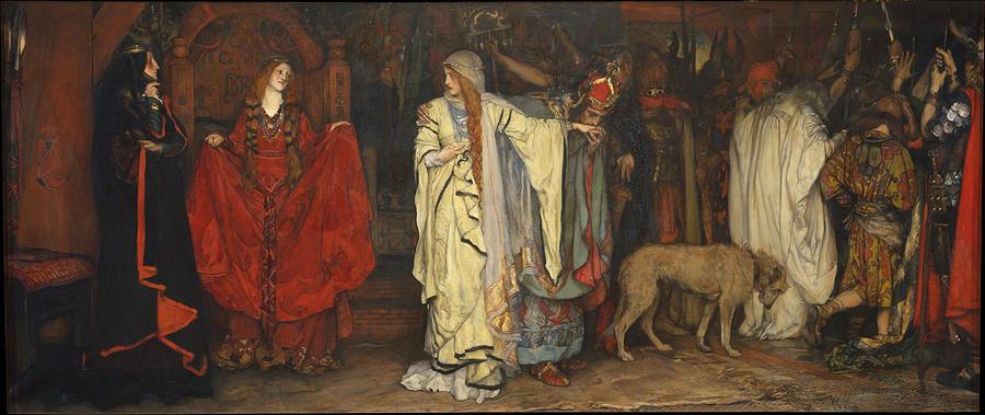 Edwin Painting - King Lear  Act I  Scene I  by Edwin Austin Abbey