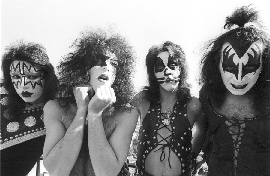 Kiss Portrait Session In La Photograph by Michael Ochs Archives