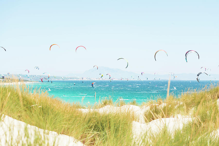 Image Photograph - Kite Surfers by Andrew Lever