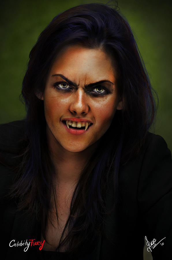 Kristen Stewart Digital Art - Kristen Stewart by Queso Espinosa
