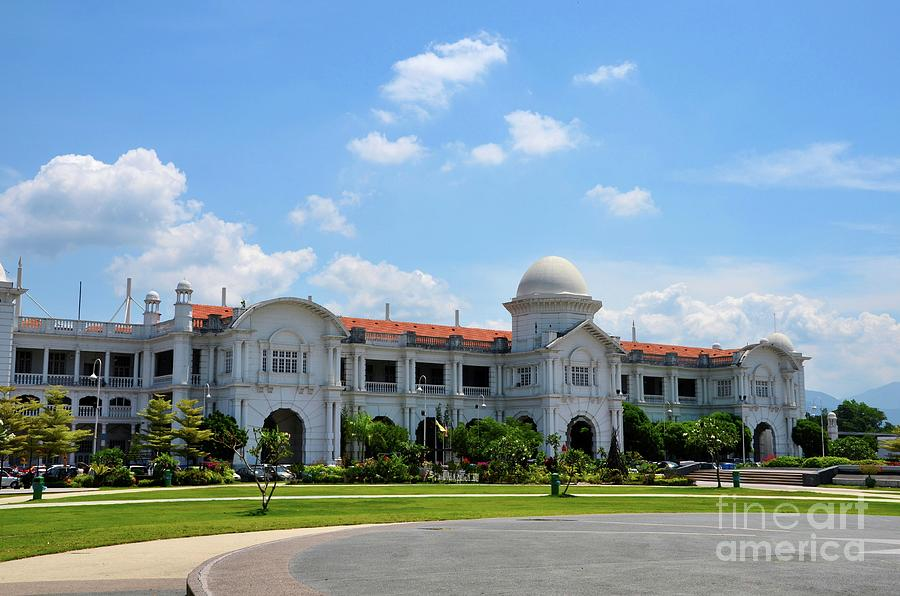 KTM railway colonial train station building with gardens Ipoh Malaysia by Imran Ahmed