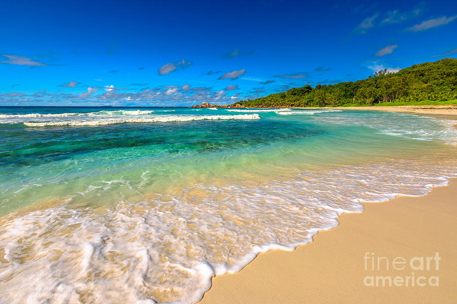 Seychelles Photograph - La Digue Anse Cocos by Benny Marty