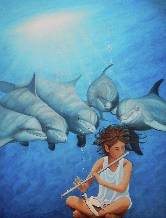 La Flautista by Angel Ortiz