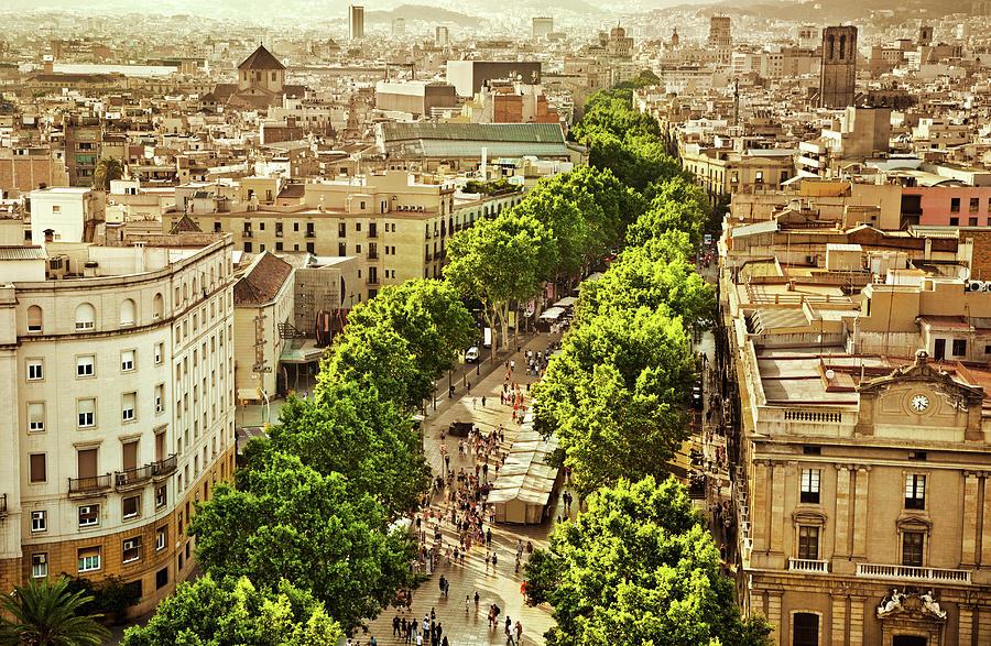 La Rambla Barcelona Photograph by Nikada
