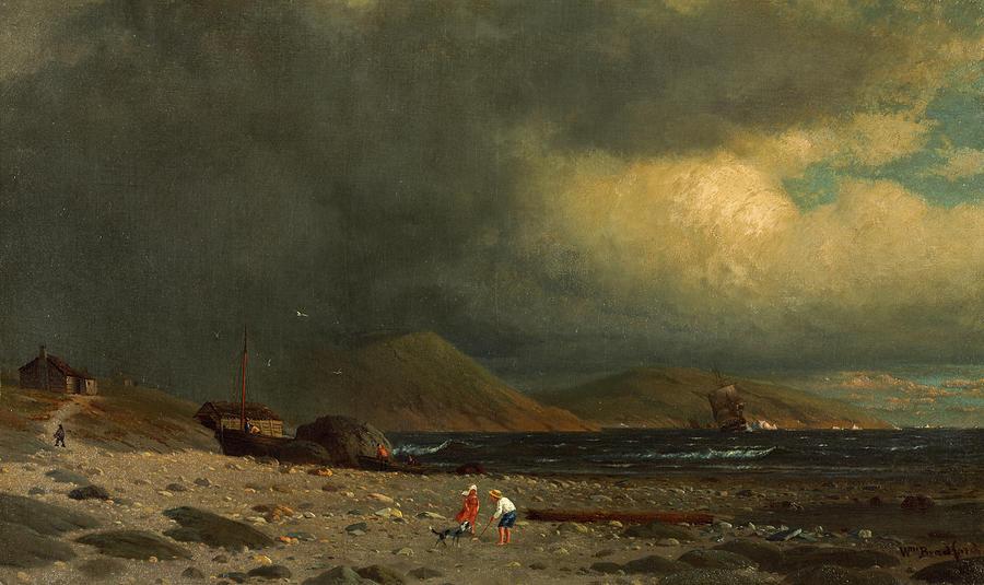 Labrador Painting - Labrador Coast by William Bradford