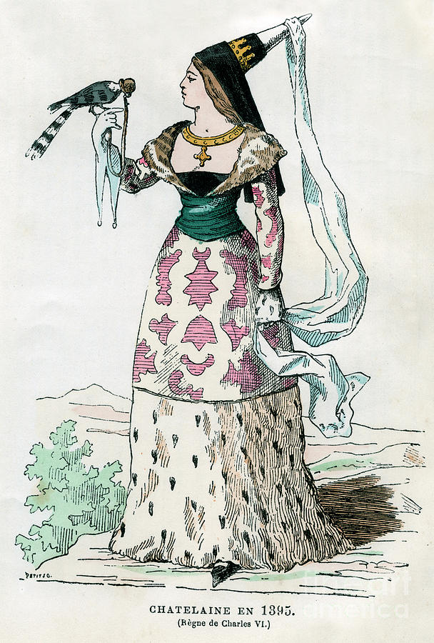 Lady Of The Manor Of The Time Drawing by Print Collector