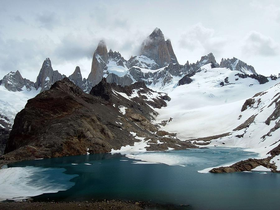Laguna De Los Tres And Fitz Roy Photograph by Courtesy Of Serge Kruppa
