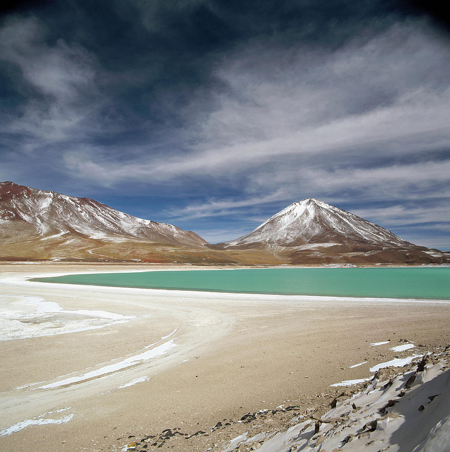 Laguna Verde Is A Salt Lake In The Photograph by Cultura Exclusive/philip Lee Harvey